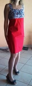 Robe cintrée rouge dans Couture FEmmES robe-cintree2-114x300